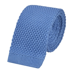 Magee 1866 Blue Knitted Silk Tie