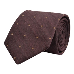 Magee 1866 Flower Print, Rust Classic Tie