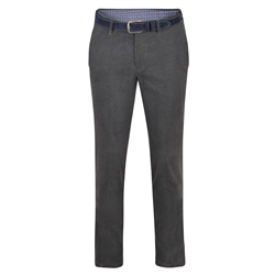 Magee 1866 Grey Braid Washed Look Slim Tailored Fit Trousers