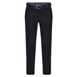 Magee 1866 Dark Navy Braid Needle Cord Slim Fit Trousers