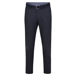 Magee 1866 Dark Navy Braid Washed Look Slim Fit Trousers
