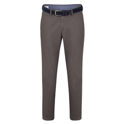 Magee 1866 Grey Braid Washed Look Slim Fit Trousers