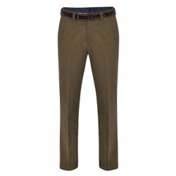Magee 1866 Olive Dungloe Needle Cord Classic Fit Trousers