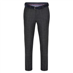 Magee 1866 Grey Moyra Checked Slim Fit Trouser