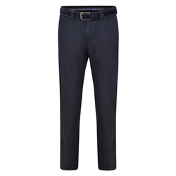 Magee 1866 Dark Navy Dungloe Washed Look Classic Fit Trousers