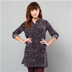 Magee 1866 Purple Butterfly Liberty Print Scarlett Shirt Dress