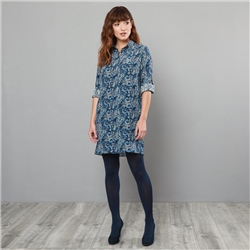 Magee 1866 Navy Liberty Print Scarlett Shirt Dress
