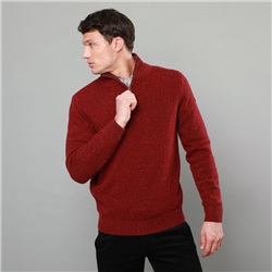 Magee 1866 Red Tamur Lambswool Donegal Fleck 1/4 Zip Jumper