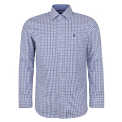 Magee 1866 Blue Drumore Gingham Check Classic Fit Shirt