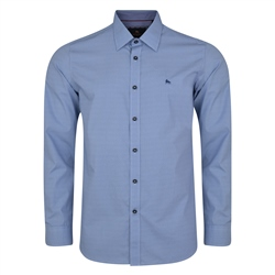 Magee 1866 Blue Lisnaree Micro Design Tailored Fit Shirt