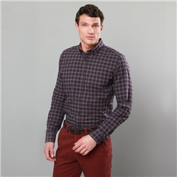 Red Rarooey Checked Button-Down Tailored Fit Shirt