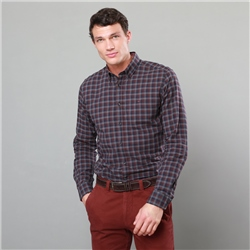 Magee 1866 Red Rarooey Checked Button-Down Tailored Fit Shirt
