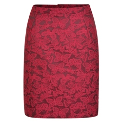 Magee 1866 Pink Carey Butterfly Jacquard Skirt