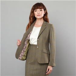 Magee 1866 Green Alicia Country Check Classic Fit Blazer