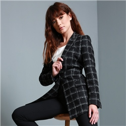 Magee 1866 Black & Grey Moyne Checked Jacket