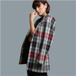 Magee 1866 Grey, Rust & Black Moyne Checked Jacket