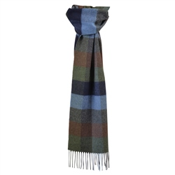 Magee 1866 Multi Coloured Check Patchwork Scarf