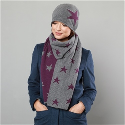 Magee 1866 Grey & Purple Double Sided Scarf