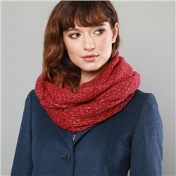 Magee 1866 Luxury Red Loose Knit Snood