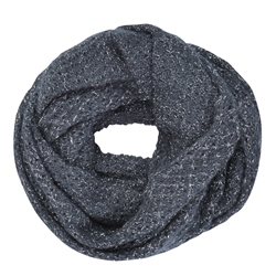 Magee 1866 Luxury Navy Loose Knit Snood
