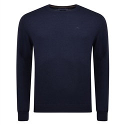 Magee 1866 Lunniagh Navy Lambswool Crew Neck Jumper