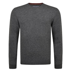 Magee 1866 Charcoal Lunniagh Lambswool Crew Neck Jumper