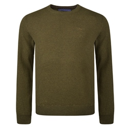 Magee 1866 Green Lunniagh Lambswool Crew Neck Jumper