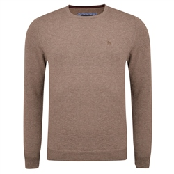 Magee 1866 Brown Lunniagh Lambswool Crew Neck Jumper