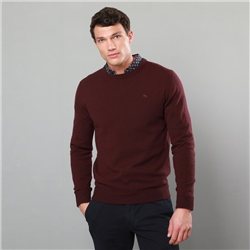 Magee 1866 Purple Lunniagh Lambswool Crew Neck Jumper