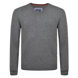 Magee 1866 Charcoal Lunniagh Lambswool V Neck Jumper