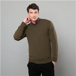 Magee 1866 Green Lunniagh Lambswool V Neck Jumper