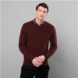 Magee 1866 Purple Lunniagh Lambswool V Neck Jumper