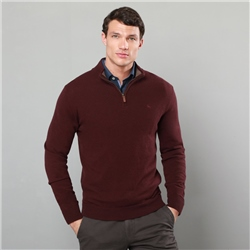Magee 1866 Purple Lunniagh Lambswool 1/4 Zip Jumper