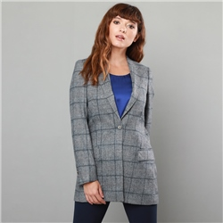 Magee 1866 Grey & Navy Moyne Checked Jacket