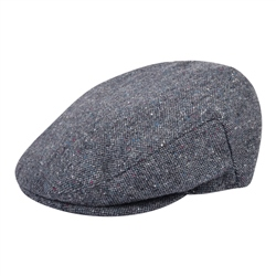 Magee 1866 Grey Salt & Pepper Donegal Tweed Cap