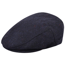 Magee 1866 Navy Salt & Pepper Donegal Tweed Cap