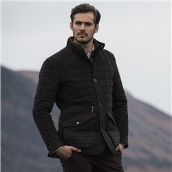 Magee 1866 Brown Glenveigh Quilted Classic Fit Coat