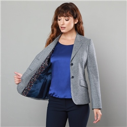 Magee 1866 Grey & Navy Alicia Classic Fit Blazer