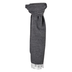 Magee 1866 Grey & Navy Puppytooth Scarf