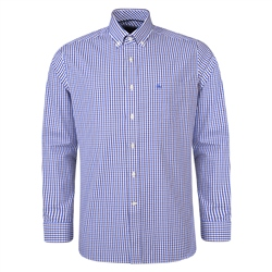 Magee 1866 Purple & Blue Checked Tullagh Button Down Classic Fit Shirt