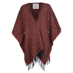 Magee 1866 Red Eske Donegal Tweed Cape