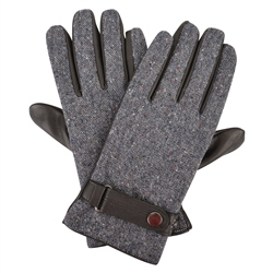 Magee 1866 Grey Farnagh Salt & Pepper Donegal Tweed Men's Gloves