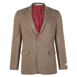 Magee 1866 Brown Draft Weave Tweed Classic Fit Jacket