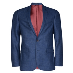 Magee 1866 Blue Micro Design Tailored Fit Jacket