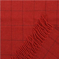 Red Deco Windowpane Wide Scarf