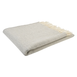 Magee 1866 White & Grey Hopsack Throw