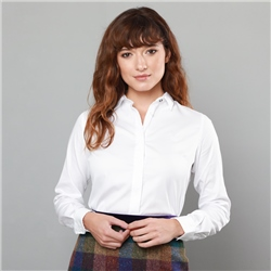 Magee 1866 White Tracy Stretch Tailored Fit Shirt