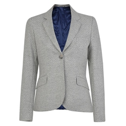 Magee 1866 Grey Lily Geometric Weave Tailored Fit Blazer
