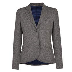 Magee 1866 Charcoal Lily Salt & Pepper Tweed Blazer