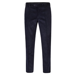 Magee 1866 Navy Plain Front Cord Classic Fit Trousers